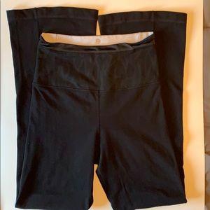 Lululemon black yoga pants reversible